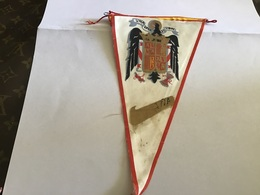 Écusson Fanion En Plastique   Blason Tissus En L état Una Gran De Libre Espagne - Ecussons Tissu