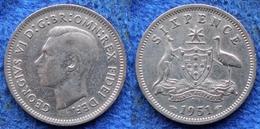 AUSTRALIA - Silver 6 Pence 1951 KM# 45 George VI (1936-1952) - Edelweiss Coins - Non Classificati