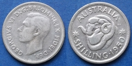 AUSTRALIA - Silver Shilling 1950 KM# 46 George VI (1936-1952) - Edelweiss Coins - Sterling Coinage (1910-1965)