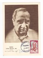 Acteur Cinéma Carte Philatélique 1er Jour Du 10 Juin 1961 Jules Muraire Dit RAIMU Né à Toulon 1883 1946 VOIR DOS - Schauspieler