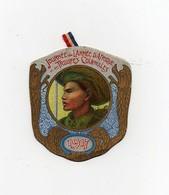 Insigne épinglette Journée De L'Armée D'Afrique Et Des Troupes Coloniales Lapina 1914 La Marne L'Yser 1915 Artois - 1914-18