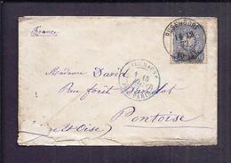 ENVELOPPE BUSENDORF 14-12 1877 Vers PONTOISE ALLEMAGNE Par PARIS Bouzonville - Germania