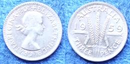 AUSTRALIA - Silver 3 Pence 1959 KM# 57 Elizabeth II Pre-decimal- Edelweiss Coins - Non Classificati