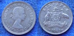 AUSTRALIA - Silver 6 Pence 1962 KM# 58 Elizabeth II (1952-71) - Edelweiss Coins - Non Classificati