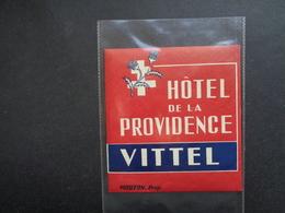 Document ( 2847 )  étiquette D' Hôtel  Etiket  - Reclame  Publicité -   Vittel - Etiquettes D'hotels