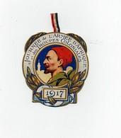 Insigne épinglette Journée De L'Armée D'Afrique Et Des Troupes Coloniales 1917 Devambez 1914 La Marne L'Yser 1915 Artois - 1914-18