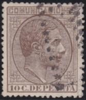 Espana      .    Yvert          .    175        .         O      .       Oblitéré  .  /   Cancelled - 1875-1882 Königreich: Alphonse XII.