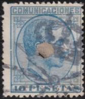 Espana      .    Yvert          .    182      .         O      .       Oblitéré  .  /   Cancelled - 1875-1882 Königreich: Alphonse XII.