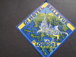 Document ( 2855 )  étiquette D' Hôtel  Etiket  - Reclame  Publicité -  Lourdes - Etiquettes D'hotels