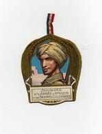 Insigne épinglette Journée De L'Armée D'Afrique Et Des Troupes Coloniales Devambez 1914 La Marne L'Yser 1915 Artois - 1914-18