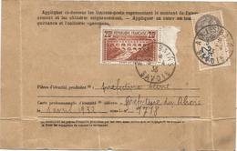 N° 262 PONT DU GARD 20FR SEUL CARTE (legers Plis)ABONNEMENT POSTE RESTANTE AIX LES BAINS 5.4.1933 AU TARIF =RRR - Storia Postale