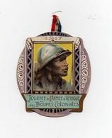 Insigne épinglette Journée De L'Armée D'Afrique Et Des Troupes Coloniales 1917 Chambrelent 1914 La Marne L'Yser 1915 - 1914-18