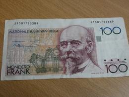 BILLET BELGIQUE 100 FRANCS. - [ 2] 1831-... : Royaume De Belgique