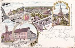 RASTATT - BADEN-WÜRTTEMBERG - DEUTSCHLAND -  LITHOGRAPHIE ANSICHTKARTE 1903. - Rastatt