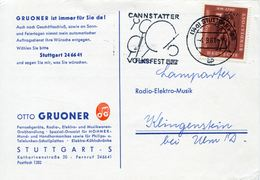 ALEMANIA CARTA 1961 MICHEL DE-365 - [7] Repubblica Federale