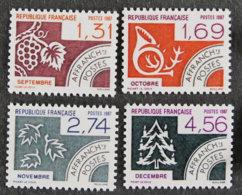 FRANCE - 1987 - YT PREO 194 à 197 ** - Precancels