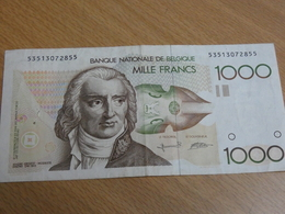 BILLET BELGIQUE 1000 FRANCS. - [ 2] 1831-... : Royaume De Belgique