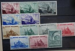 BELGIE  1938    Nr. 466 - 470  / 471 - 477     Spoor Van Scharnier *    CW  26,00 - Belgique