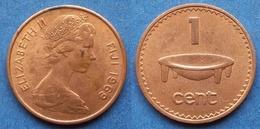 FIJI - 1 Cent 1969 KM# 27 Elizabeth II Decimal Coinage (1971) - Edelweiss Coins - Fidschi