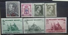 BELGIE  1938    Nr. 478 / 479 - 480 / 481 - 483      Scharnier *    CW  21,50 - Belgique