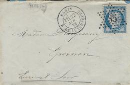 1873- Lettre De PARIS / R.DE LUXEMBOURG   Affr. N°60 Oblit. étoile 35 - Marcophilie (Lettres)