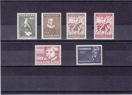 DANEMARK 1971 Yvert 514-517 + 524 + 529 NEUF** MNH - Danemark