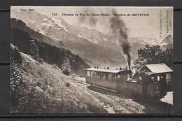 MOTIVON   -  La Station  -   Chemin De Fer Du Mont-Blanc. - Saint-Gervais-les-Bains