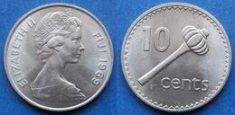 "FIJI - 10 Cents 1969 ""throwing Club - Ula Tava Tava"" KM# 30 - Edelweiss Coins - Fidschi"