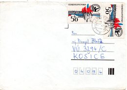 TCHECOSLOVAQUIE. N°2398 De 1980 Sur Enveloppe Ayant Circulé. Spartakiades. - Francobolli