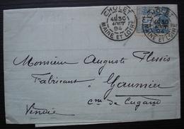Cholet 1894 Bellanger Et Delhumeau, Banquiers - Storia Postale