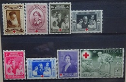 BELGIE  1939    Nr. 496 - 503      Postfris **     CW  42,00 - Nuevos