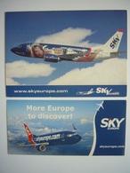 Avion / Airplane / SKY / Boeing B 737/ Airline Issue / 1 Postcard & 1 Sticker - 1946-....: Ere Moderne