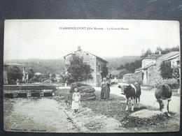 52 ,flamerécourt ,la Grande Route .......peu Courante.........petite Trace - Autres Communes