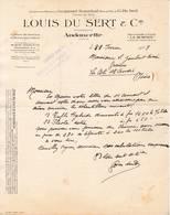 26 ANDANCETTE COURRIER 1928 Cultures De Graines Semences Louis DU SERT Anc. Maisons JACQUEMET  - X76 Drôme C/ ST VALLIER - Frankreich