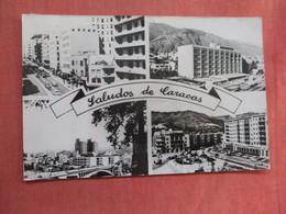 Saludos De Caracas  Venezuela  Has Stamp & Cancel      Ref 3761 - Venezuela