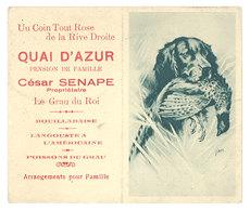 Calendrier 1936, Quai D'Azur, Pension De Famille, César Sanape, Le Grau Du Roi ( Chien De Chasse ) - Calendari