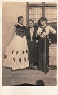 3 Women, One Of Them In Cowboy Cowgirl Dress Real Photo Postcard - Fotografía