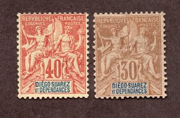 Diégo Suarez N°33,34 N* TB Cote 63 Euros !!! - Unused Stamps