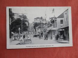 Grenada St. Georges W.I. Market Street Top Left Corner Crease    Has Stamp & Cancel      Ref 3761 - Grenada