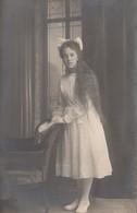 Edwardian Girl W Very Long Hair Real Photo Postcard 1910s - Fotografía