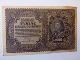 1 BILLET POLONAIS DE 1000 MAREK, N° 368236, III SERJA G, VOIR SCAN RECTO-VERSO DE 1919 - Polen
