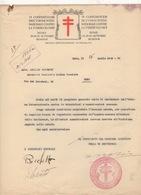 ^ FASCISMO FIORETTI MEDICO FASCISTA CONFERENZA TUBERCOLOSI DOCUMENTO 56 - Documenti Storici