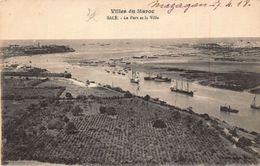 Morocco Villes Du Maroc Sale Le Port Et La Ville Harbour Boats Postcard - Cartoline