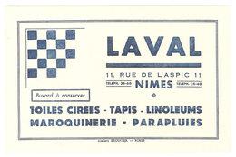 Buvard Nimes, Marque LAVAL , Toiles Cirées, Tapis, Linoleums, Parapluies ... - L