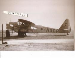 PHOTO AVION POTEZ A IDENTIFIER F-AOOP RETIRAGE 13X9CM - Aviation