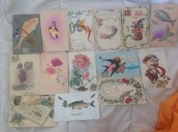 Lot 14 Cartes 1er Avril - 108 - 1° Aprile (pesce Di Aprile)