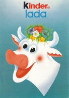 Advertising Postcard Kinder Ferrero Kinderlada Happy Cow - Otros