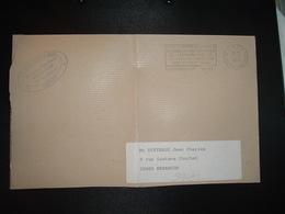LETTRE PORT PAYE OBL.MEC. VARIETE 23-10 1995 PP 44 NANTES LONGCHAMP + LIGUE CONTRE LE CANCER + SARL SAINT-GAL - Mechanical Postmarks (Other)