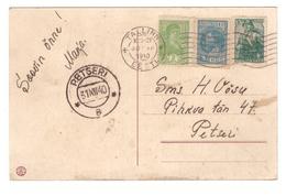 Soviet Stamps On Christmas PC,Estonian Cancellations 1940,Tallinn To Petseri - 1923-1991 URSS