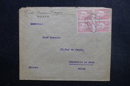 PORTUGAL  - Enveloppe Commerciale De Porto Pour La France En 1923, Affranchissement Plaisant Perforés Bloc 4  - L 49118 - Lettere